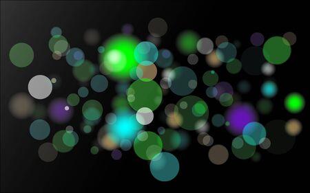 light spots glowing in dark