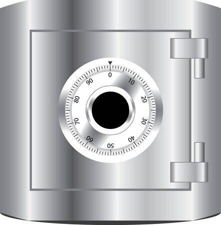 steel safe for money treasure, fully editable