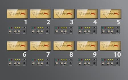 Analog VU meter music control board