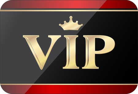 vip gold black card, fully editable vector Illustration