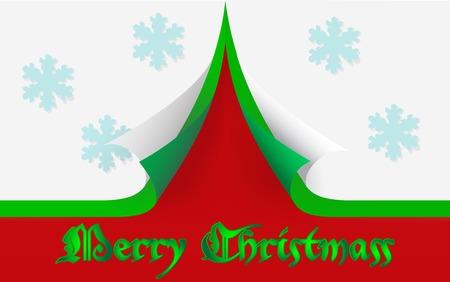 Merry Christmass card, fully editable vector