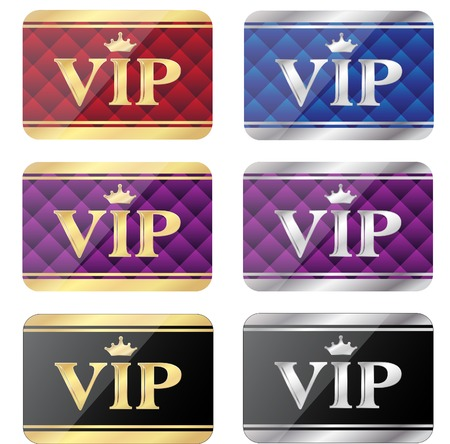 VIP gift card set Vector