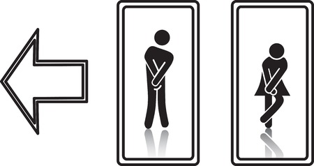 girl toilet: Funny WC symbols
