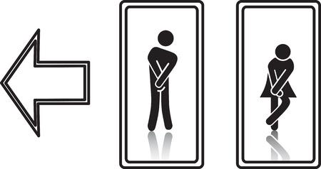 simbolo de la mujer: Símbolos de WC divertidos