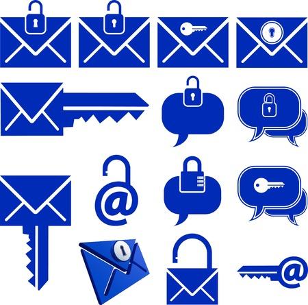 locked message icon set