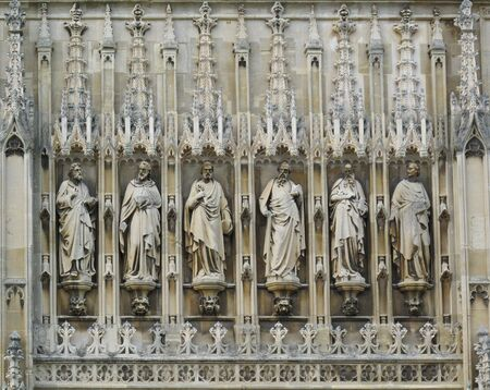 Gloucester Cathedral Sculptures above Front Entrance