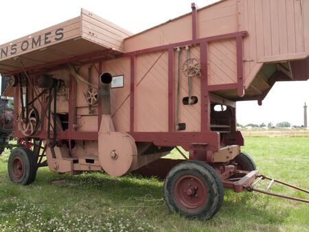 Vintage Threshing Machine Stock Photo - 5163994