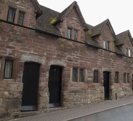 almshouse: Almshouses, Tudor, Ross-on-Wye Stock Photo