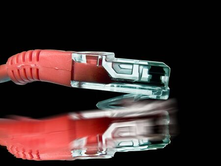 NetworkComputing - Red Cat5 Patch Cable