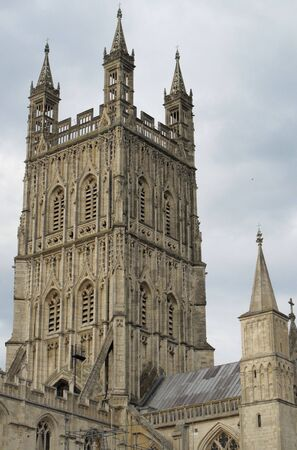 Gloucester Cathedral, Bell Tower, Gloucester, Gloucestershire, England Stock Photo