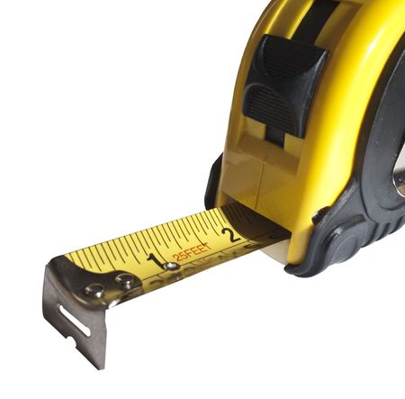 benchmark: Tape Measure, Extended Stock Photo