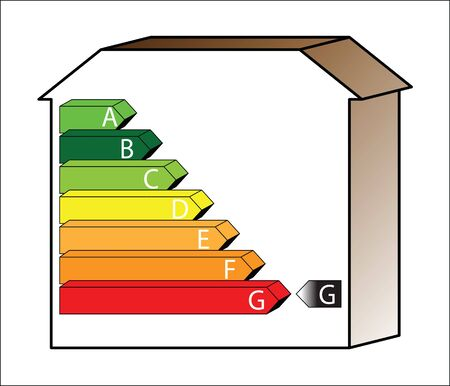 energy saving scale - ratings A to G Stock Photo - 5534703
