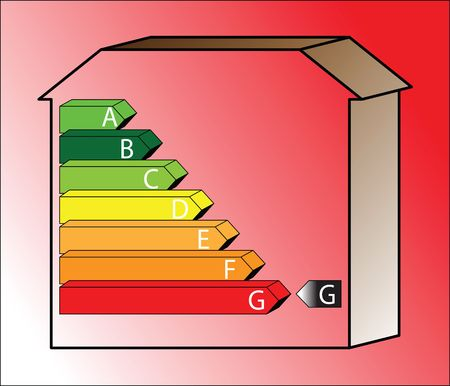 energy saving scale - ratings A to G Stock Photo - 5534706
