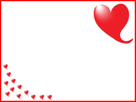 a border of romantic red hearts Stock Vector - 5550499