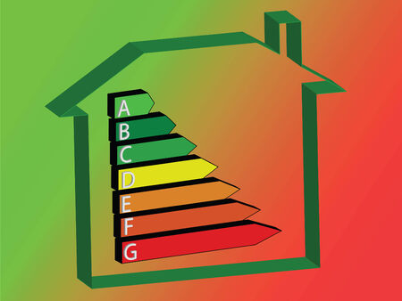 e house: energy saving scale - ratings A to G