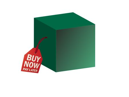 a box with buy now, pay later logo label Stock Photo - 5617001
