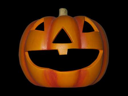 a single halloween pumpkin isolated on black Stock Photo - 5616988