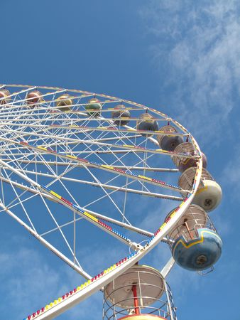 the ferris wheel on Blackpool Central Pier
