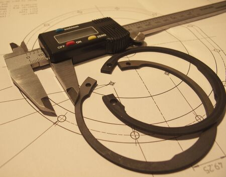 micrometer: measuring the o rings with a micrometer