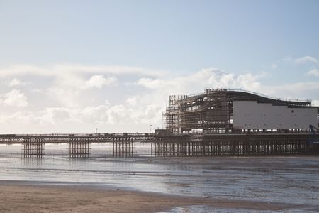 birnbeck: the new weston super mare pier being built