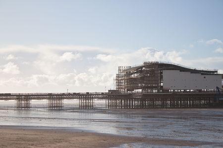 weston super mare: the new weston super mare pier being built