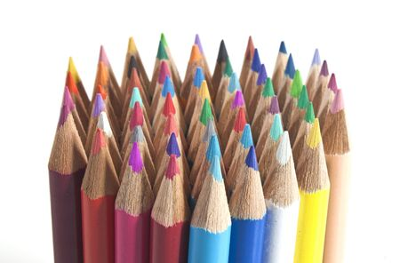 a bundle of colouring pencils all together