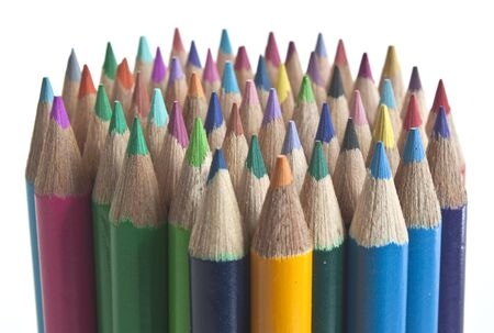 some coloured pencils standing on end Stock Photo - 7656280