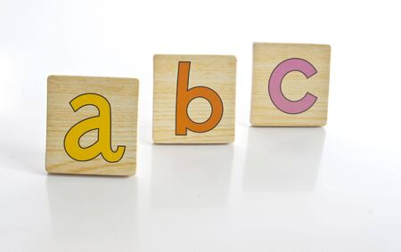 consecutive: wooden tiles with the letters A B C Stock Photo