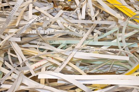 some confidential paper shredded to protect identity photo