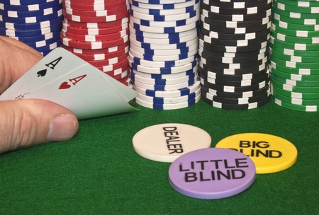 some lucky pocket aces to start the game Stock Photo - 8447498
