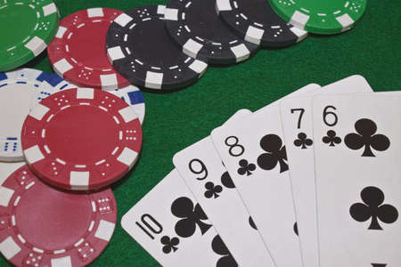 straight flush: a winning poker hand of a straight flush