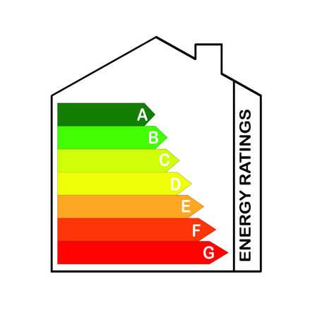 votaciones: escala de calificaciones de energ�a dentro de una casa Foto de archivo
