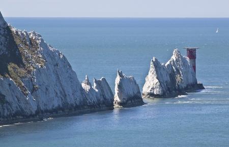 hampshire: las agujas famosos de la costa sur de la Isla de Wight