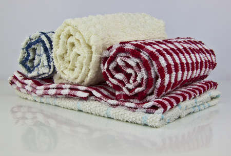 dishcloth: some tea towels with reflection