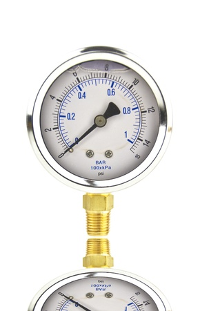 a low pressure gauge with white space photo