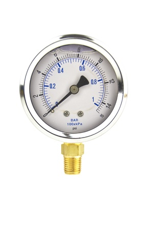 low valued pressure gauge with white space