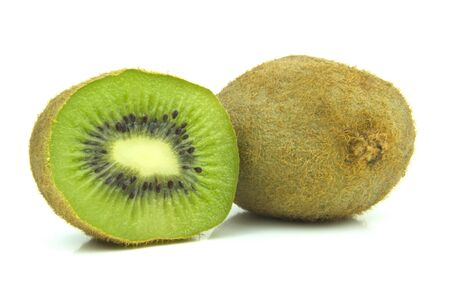 kiwi fruit cut through centre Stock Photo - 15011754