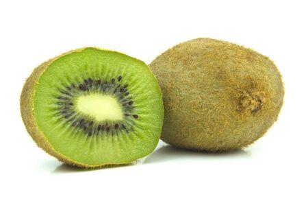 kiwi fruit cut through centre Stock Photo - 15011754