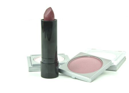 various lipstick and makeup accessories Stock Photo - 15095210