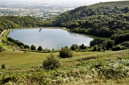 the reservoir on malvern hills, worcestershire, england
