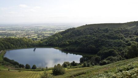 the reservoir on malvern hills, worcestershire, england photo