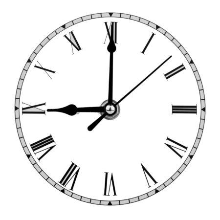 analogue clock face displaying nine o'clock Stock Photo - 16048227