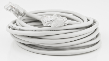 cat5 network cable in a coil Stock Photo - 16048229