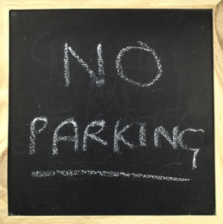 chalk board with no parking  Stock Photo - 17881388