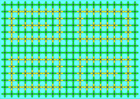 some green and yellow flowers wallpaper on blue