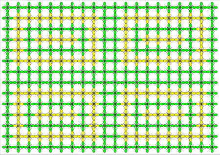 some green and yellow flowers wallpaper on white