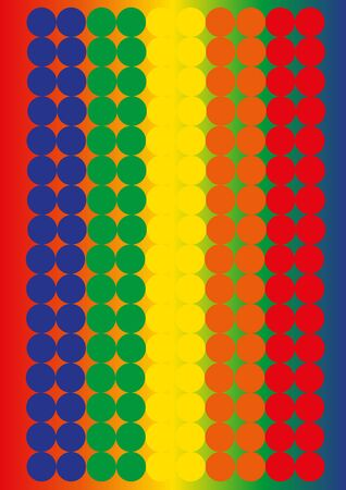 pattern of circles - red to blue Stock Photo