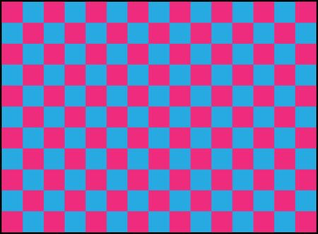 repeating pattern of blue and pink squares