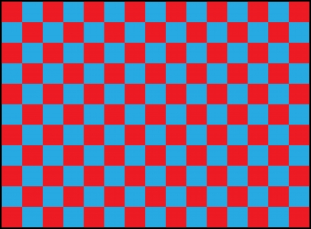 repeating pattern of blue and red squares