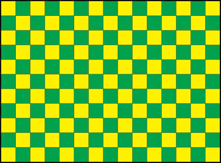 repeating pattern of green and yellow squares